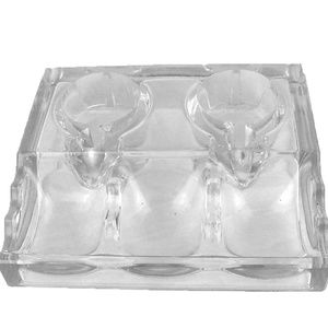 Vintage clear glass desk decor INK WELL